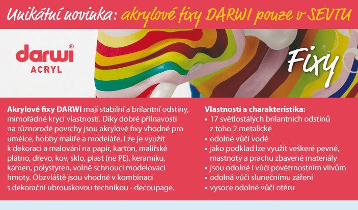 Akrylové fixy DARWI pro dokonalé malování na různé materiály.