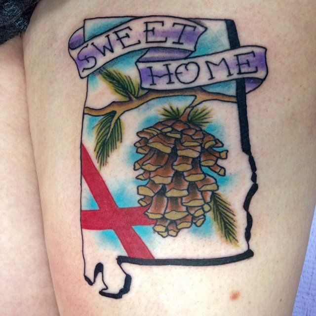 Pin for Later: 50 States of Tattoos: Ink Ideas From Every Corner of America Alabama