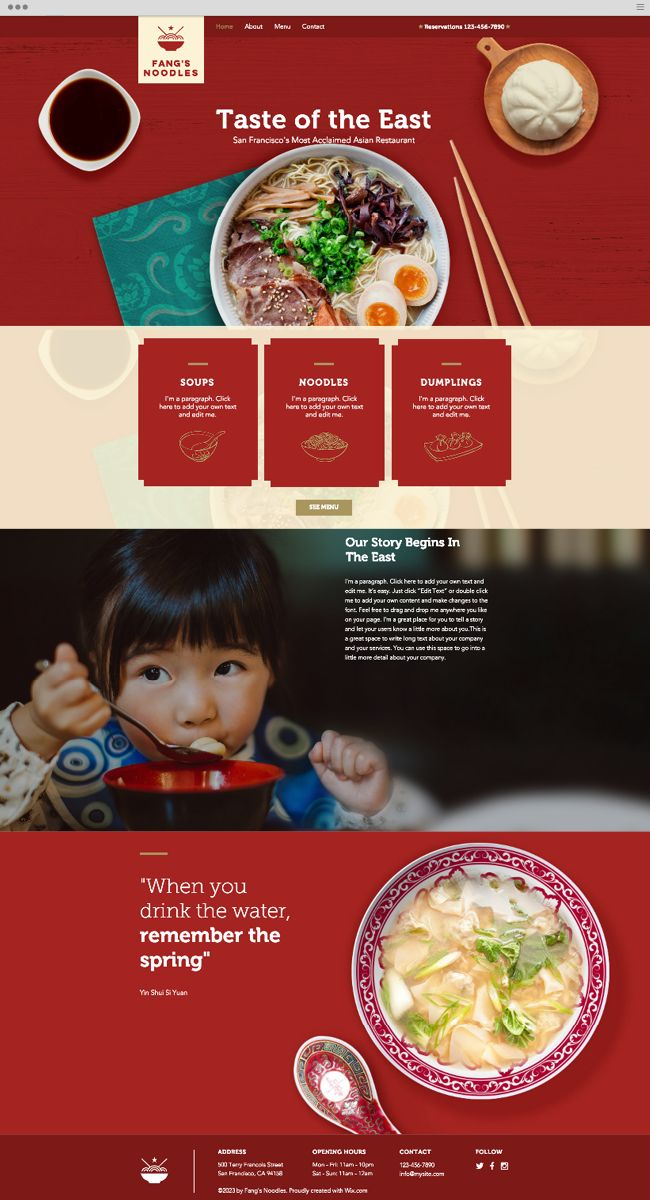 Asian Restaurant Website Template