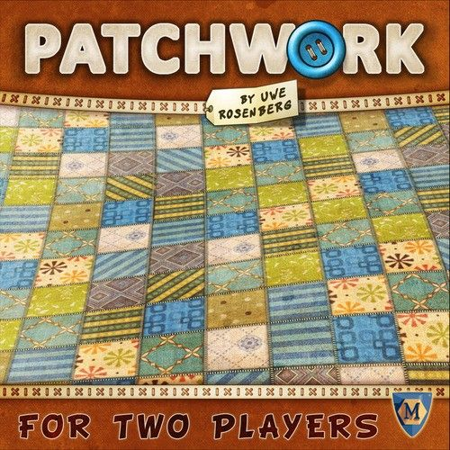 In Patchwork, two players compete to build the most aesthetic (and high-scoring) patchwork quilt on a personal 9x9 game board.