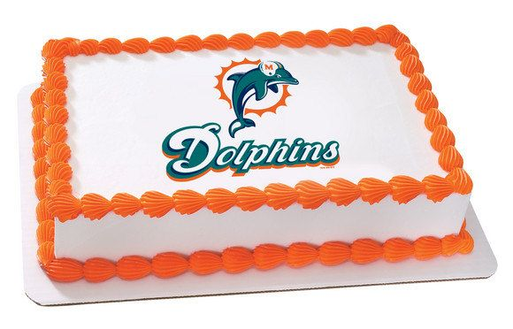 Miami Dolphins Edible Cake Topper