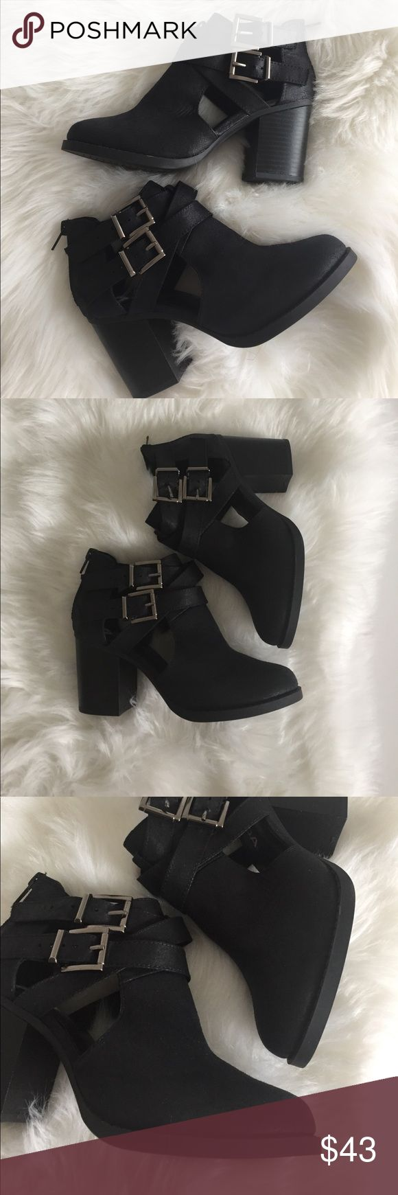NWOT Black booties SODA Brand SODA  Black booties with buckles  NWOT - no box  Size 5.5  ❗️offers welcome ❗️ Soda Shoes Ankle Boots & Booties