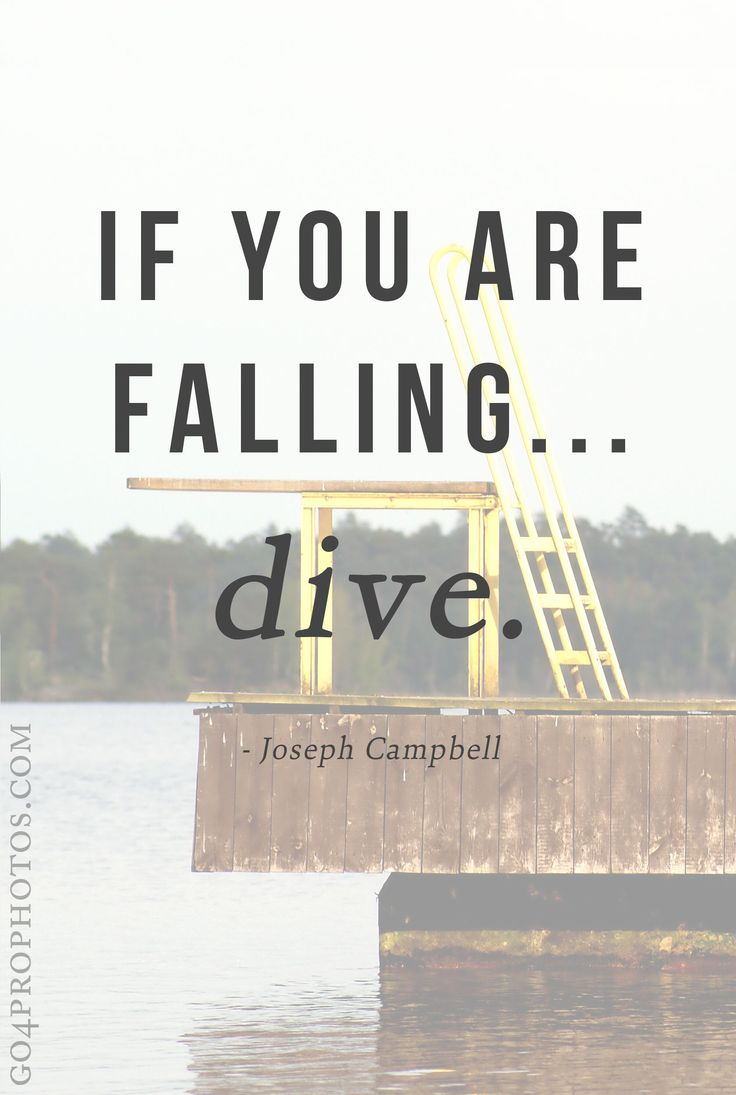 If you are falling... Dive