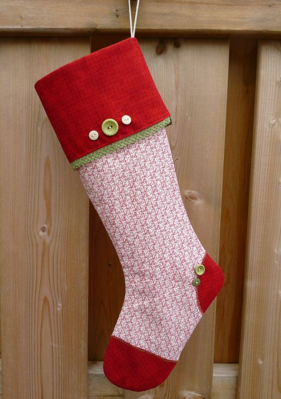 Christmas Stocking  Elegant Stocking    Classic by GabryRoad, $24.00