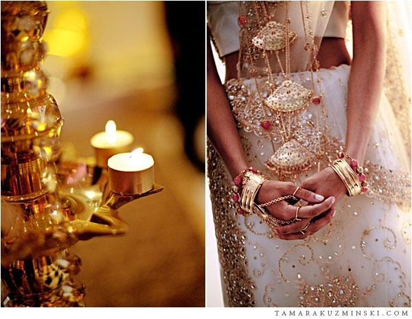 Sri Lankan wedding // gold accents