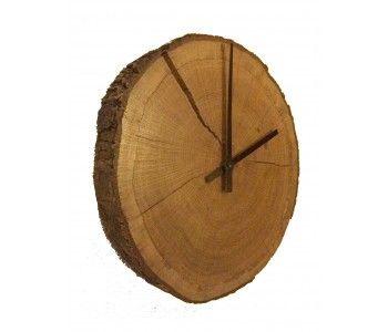 Eiken houten klok 'Time of Nature' van Studio Jasper voor aan de wand
