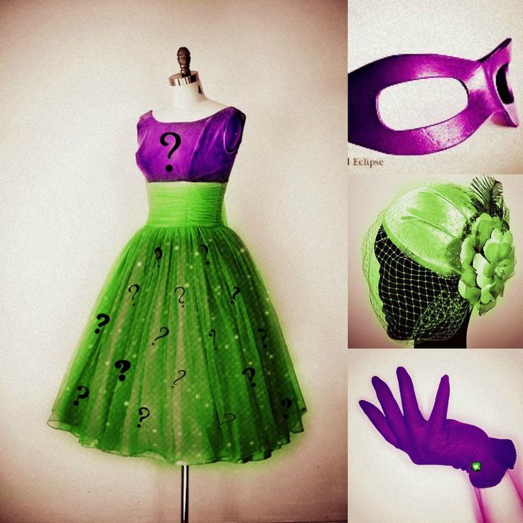 Female Riddler Inspiration - you can take an idea and create something original (often cheaper too)