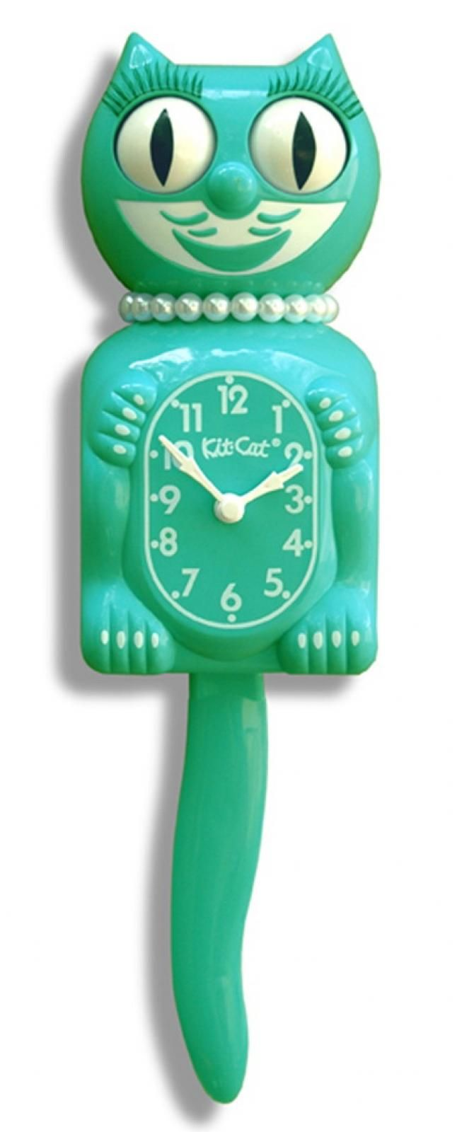 7 best clocks images on pinterest cat clock cat wall and wall found it at clockway 155in emerald green lady kit cat clock amipublicfo Gallery