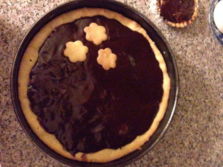 Torta pere e cioccolato su base di pasta frolla