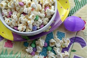 Mommy's Kitchen - Recipes From my Texas Kitchen!: Vanilla Popcorn Mix {Easter Bunny Munch Mix}