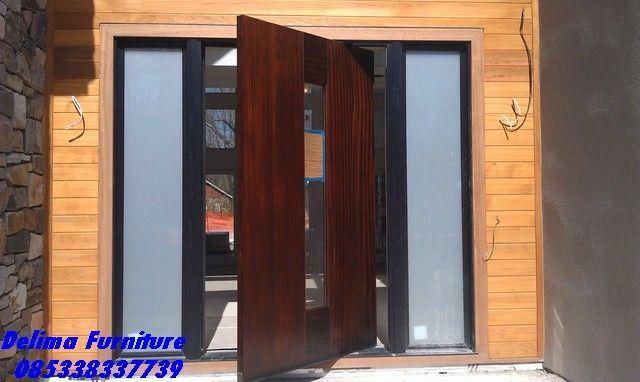 Pintu Rumah Minimalis Pivot Terbaru - Jual Kusen Pintu Utama untuk Rumah Minimalis Harga Murah Bisa di buka ke kanan dan ke kiri