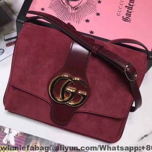 69bf03edeca21b Gucci Suede Leather Arli Medium Shoulder Bag 550126 2019 | Gucci in ...