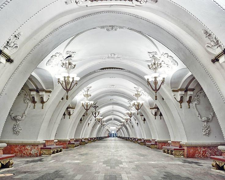 Moscow Underground, Arbatskaya station by David Burdeny
