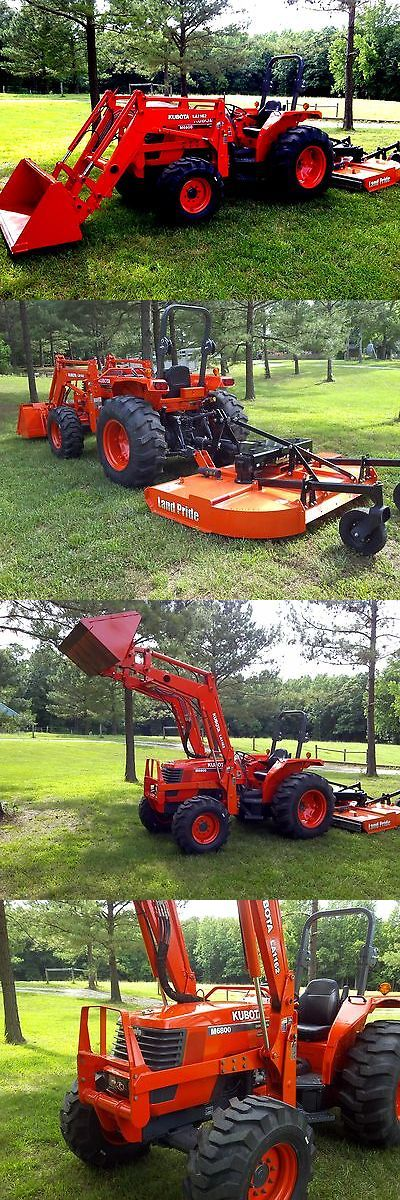 KUBOTA M6800 4X4 TRACTOR & LOADER  & NEW MOWER - Exclusively on #priceabate #priceabateHeavyEquipments! BUY IT NOW ONLY $29900