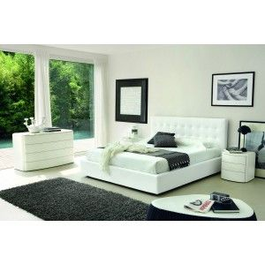 live white leather bed made in italy modern bedroom bedroom