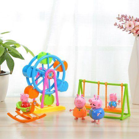 Free Shipping. Buy Peppa Pig Playground Theme Park-- Ferris Wheel & Swing at Walmart.com
