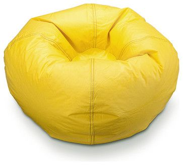 Ace Bayou Marigold Matte Bean Bag - eclectic - Chairs - Beyond Stores