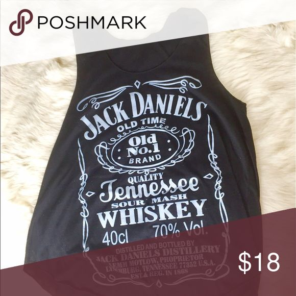 Jack Daniels Tank Great condition. Only worn a few times. Light material. Perfect for summer concerts ❤️ Tops Tank Tops