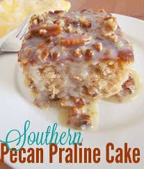 Image result for 3 Layer Praline Cake with Caramel Cream Cheese Filling