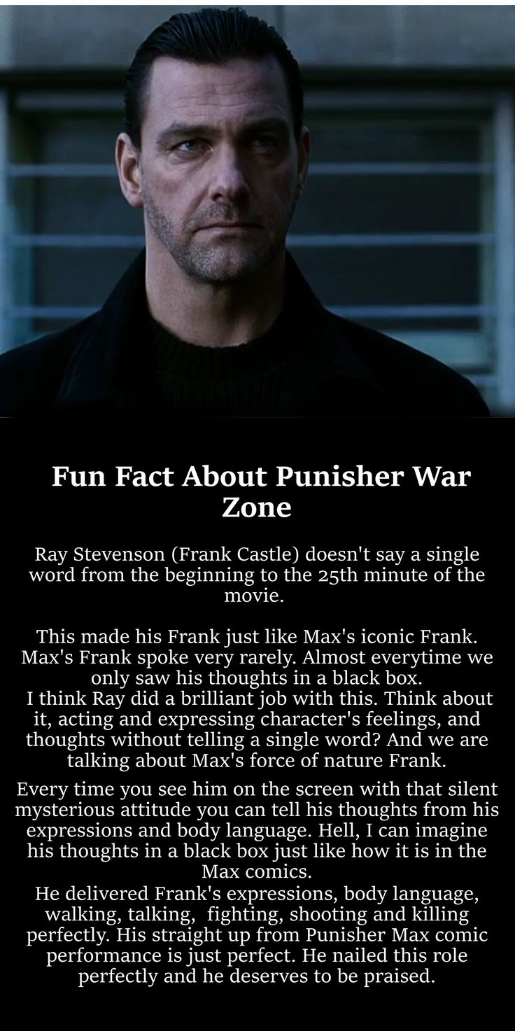 """Now that's what I am talking about! Stevenson is the Punisher\Frank Castle! If you are not one of those """"fans"""" who only know him from the show\2004 movie you will think the same. This motherfucker straight out from the Punisher comics."""