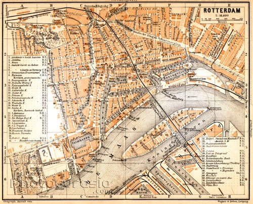 Kaart van Rotterdam map