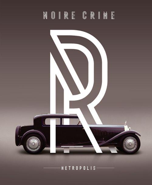R /: Graphic Design, Car, Design Inspiration, Poster Design, Noire Crime, Graphics, Typography