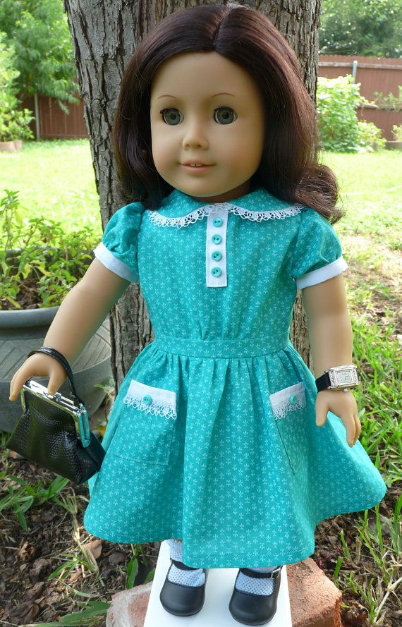 18 Doll Clothes Historical 1930s Style Dress by Designed4Dolls