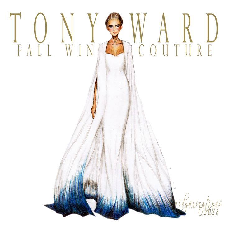 Tony Ward Fall Winter Couture illustration by swidyaningtiyas