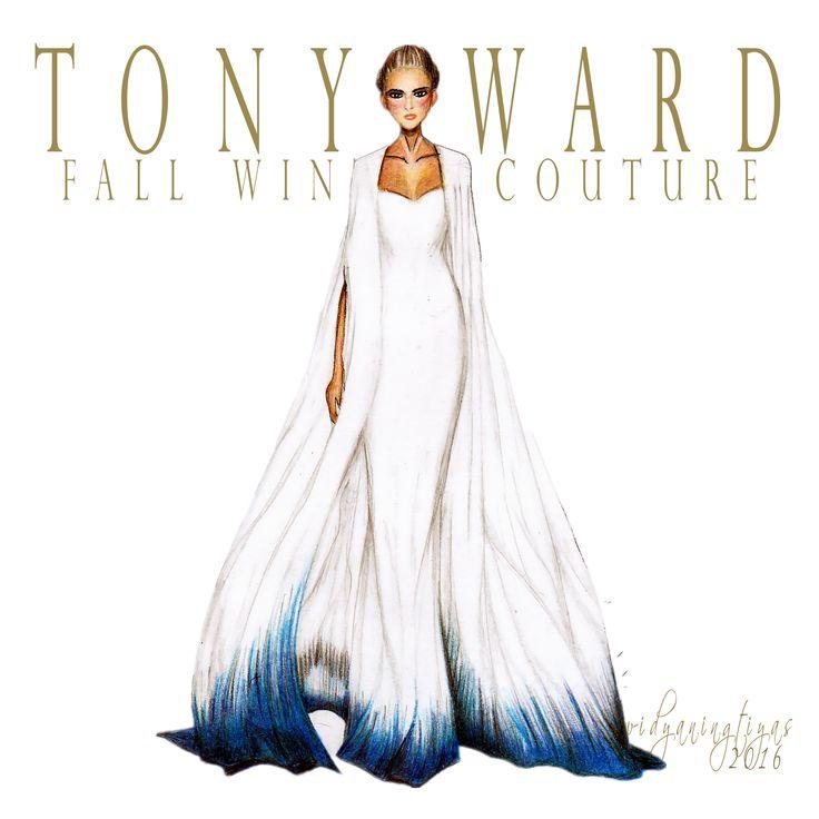 Tony Ward Fall Winter Couture illustration by swidyaningtiyas
