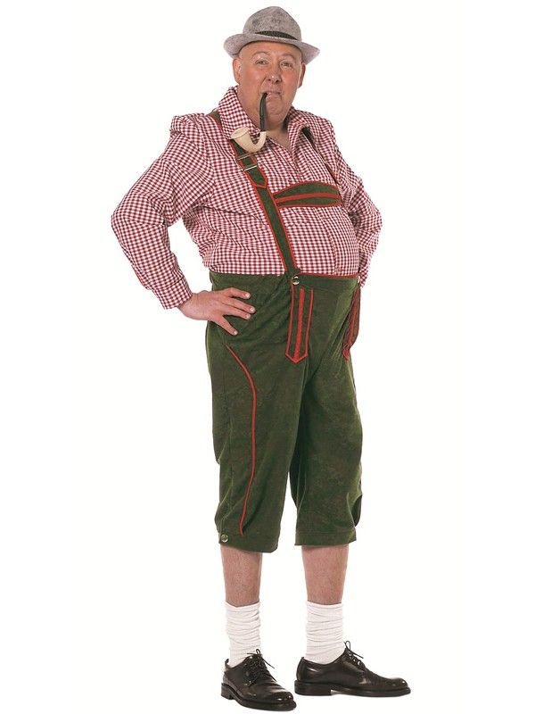 Lederhosen grønn - Oktoberfest kostyme
