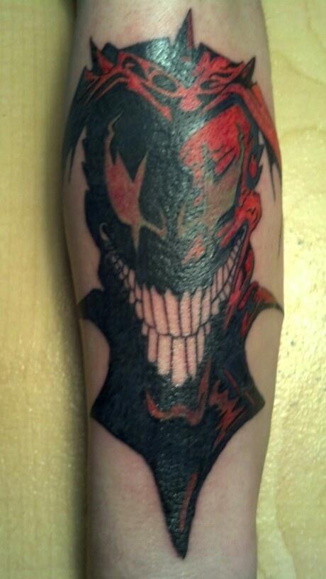 Wicked jester UV tattoo