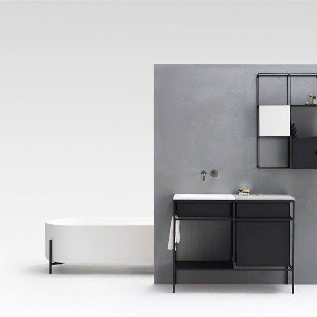 FRAME - part of the new collection of bathroom furniture for @ext_design #ext_design #salonemobile #normarchitects by normarchitects