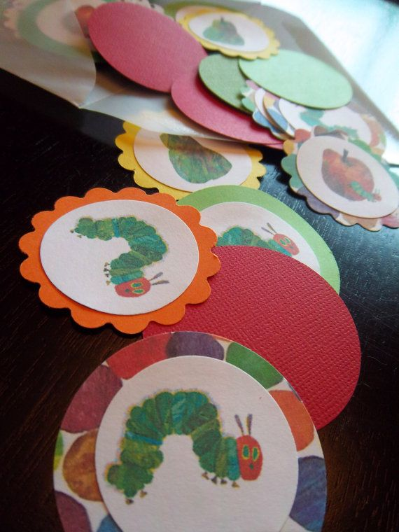 the very hungry caterpillar party table confetti by picassothedog 600