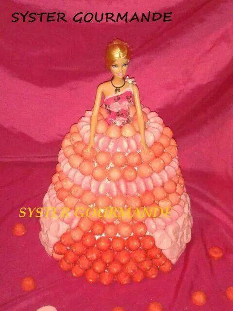 Gâteau de bonbons barbie