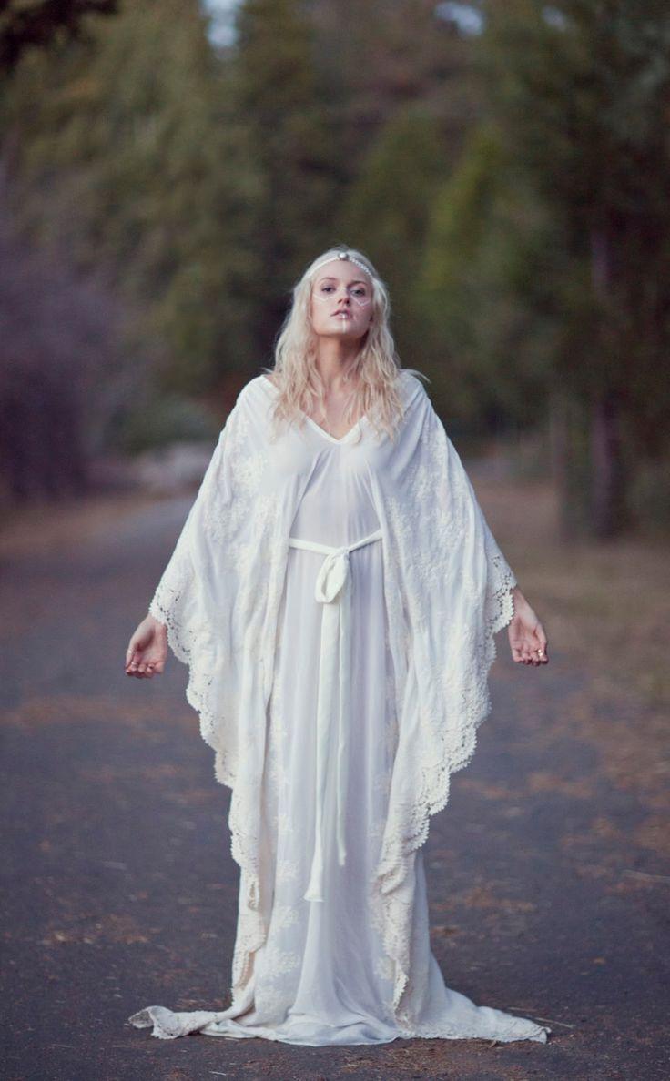 Bohemian Wedding Dress  Hippie Bohemian Gown by DaughtersOfSimone