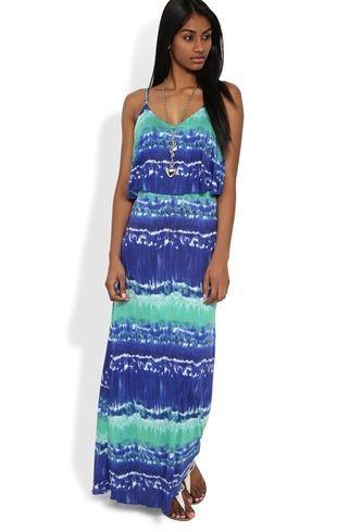Deb Shops tie dye ray span spaghetti strap popover ruffle maxi $24.67 add a denim jacket: Ruffle, Summer Dresses, Maxi Dresses, Tie Dye Maxi, Dress Summer, Day Dresses, Casual Dresses, Spaghetti Straps