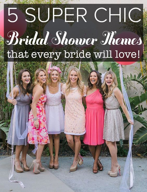 Bridal showers don't have to be lame! Here are 5 fun theme ideas for a great celebration. Pin now, read later.
