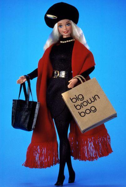Barbie's Best-Ever Designer Collaborations: Donna Karan, 1995.  Donna Karan's doll made berets cool way before Monica Lewinsky.