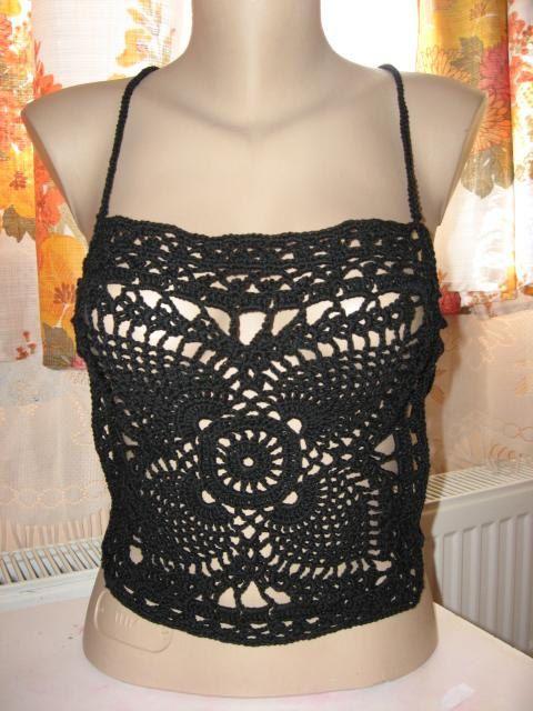 Pattern only a crochet tank top open back 2 by AsDidy on Etsy, $2.50