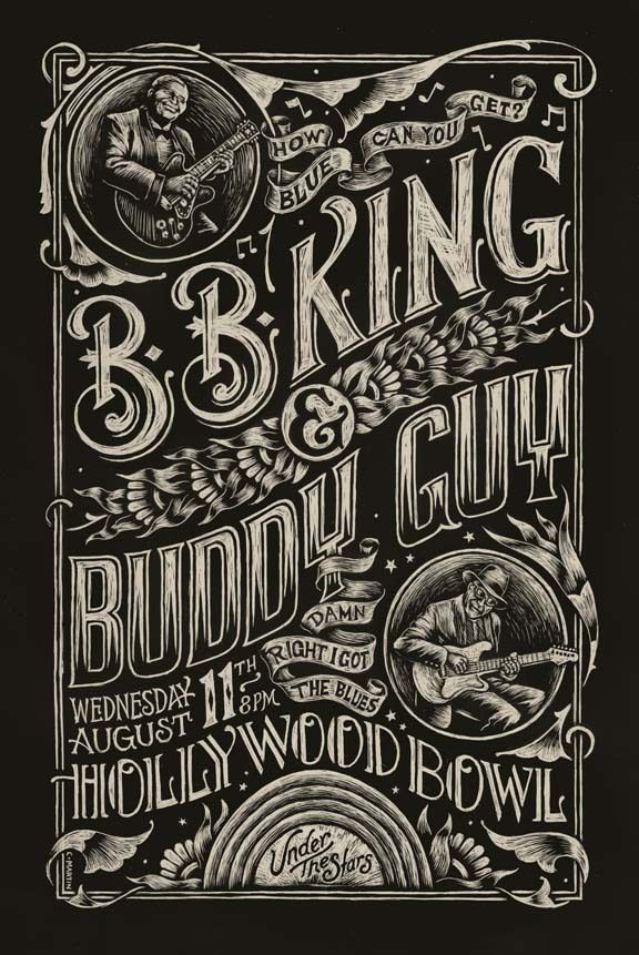 Blues Poster by Christopher Martin, via Behance