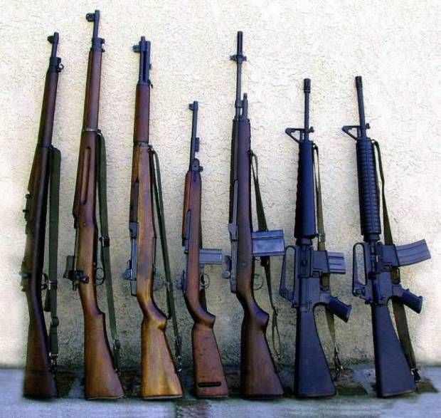 A Collection of US Battle Rifles