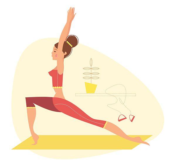 Yoga illustrations on Behance