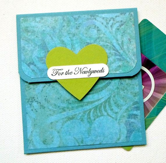 Wedding Gift Card Holder or Money Card - For the Newlyweds via Etsy