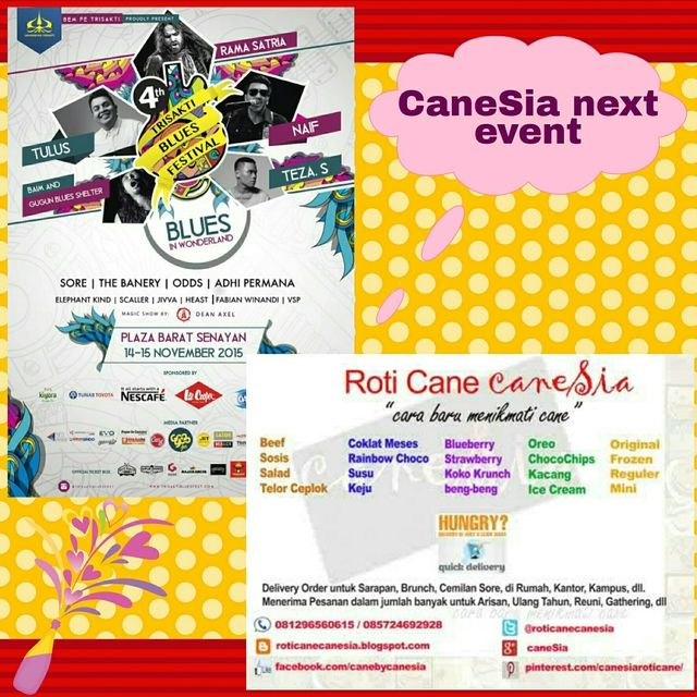caneSia Menjual Roti Cane: caneSia at Trisakti Blues Festival, 14-15 November...
