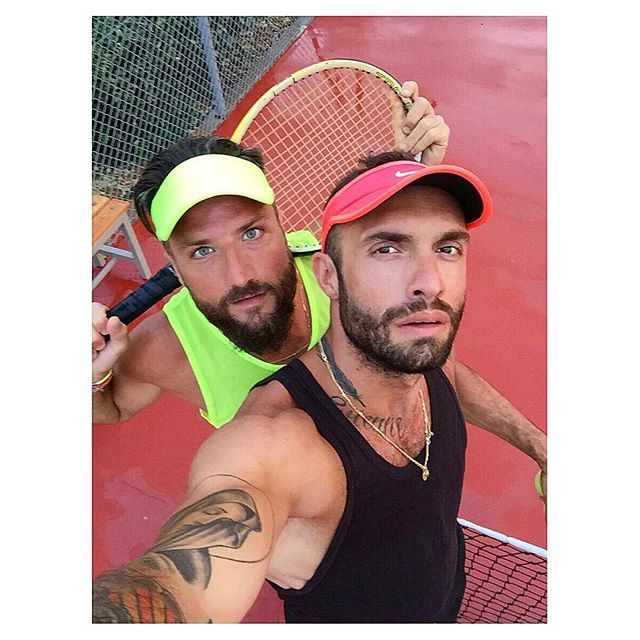 The guys are ready for a game! #AnemiHotel #Tennis #Folegandros Photo credits: