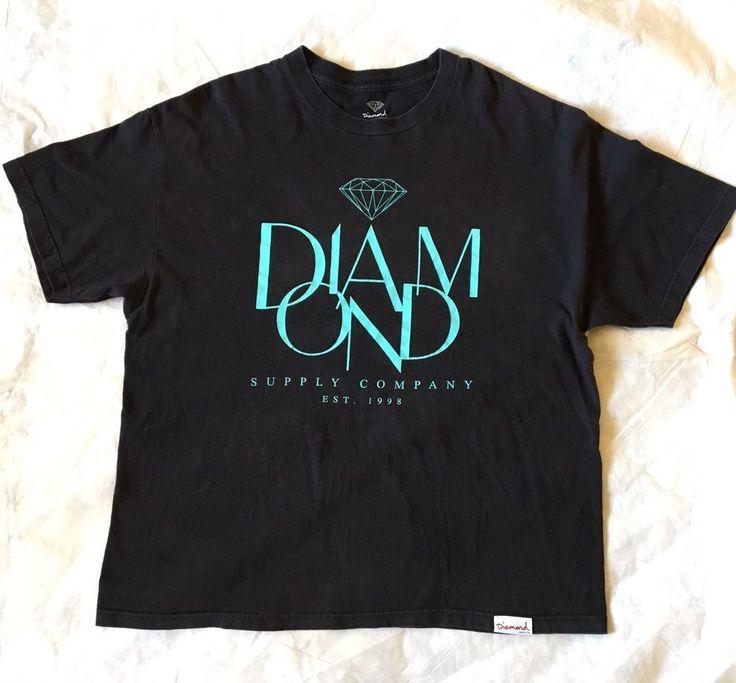 Diamond Supply Company Graphic T-shirt Tiffany Blue/Black Shirt Size XXL  | eBay