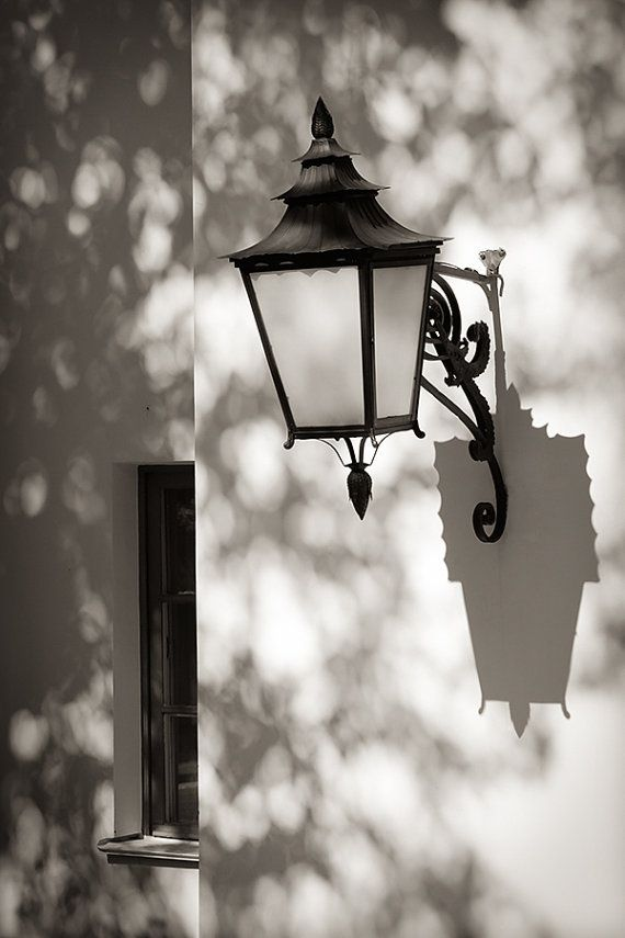 Large Black And White Wall Art Old Lantern Photography