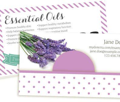 Lavender Breeze doterra business card