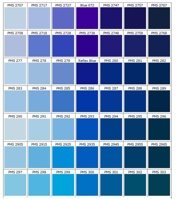 Gama de Azules 1