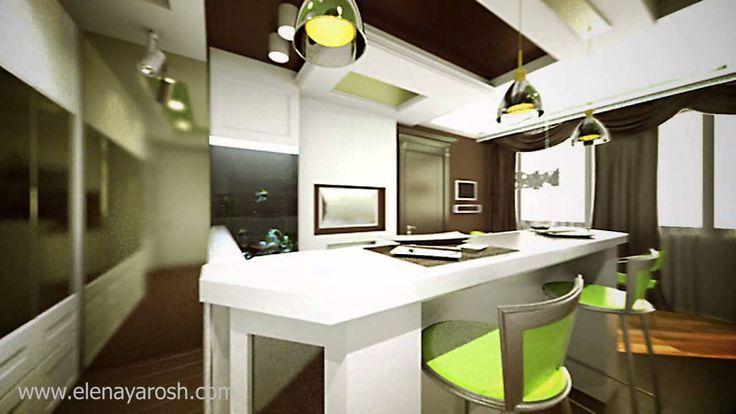 Дизайн-проект квартиры. 3D анимация.